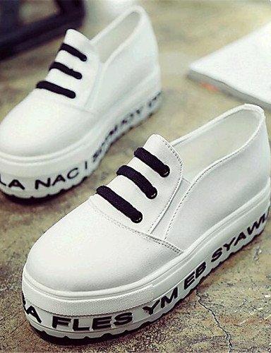 Casual Eu37 Blanco White Cn39 Mujer Eu39 Zq plataforma Green 7 5 us6 De Uk6 5 Light negro Zapatos creepers tela Gyht Cn37 us8 exterior Uk4 mocasines 5 8PPBqA