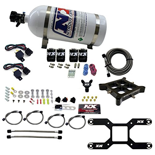 Nitrous Express 66042-10 Dual Stage Billet Crossbar Plate System w/10 lb. Bottle 50-800 HP Dual Stage Billet Crossbar Plate System
