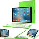 iPad Pro 12.9 2015 Keyboard, Snugg [Green] Wireless Bluetooth Keyboard Case Cover 360°