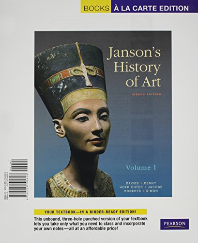 Janson's History of Art: The Western Tradition, Volume I, Books a la Carte Plus MyArtsLab -- Access Card Package (8th Ed