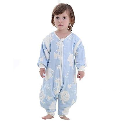CWLLWC Saco de Dormir para bebé,Otoño algodón Gasa bebé Transpirable Calientes niños Anti Kick