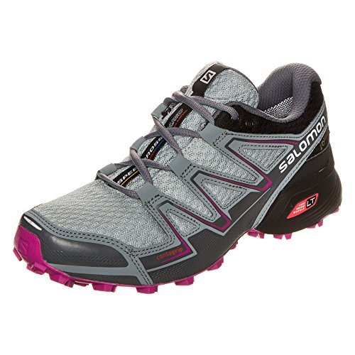 Salomon L39054600, Zapatillas de Trail Running para Mujer Gris (Light Onix /             Black /             Deep Dalhia)