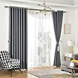 Blackout Curtain For Bedroom,Thermal Full Shading,Safty Enviromental Protection Curtains 2 Pieces (violet, 100 x 135 cm)