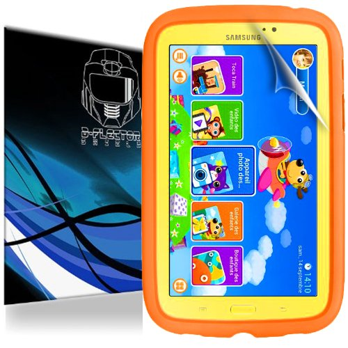 D-Flectorshield Super HD Clear Scratch Resistant SAMSUNG GALAXY TAB 3 KIDS 7-INCH TABLET Screen Protector - Free Replacement Program