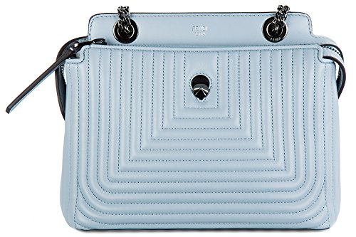 Handbag Fendi Blue (Fendi women's leather cross-body messenger shoulder bag dotcom click blu)