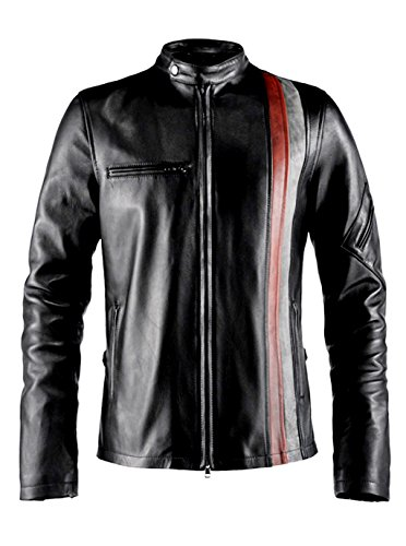ST Cyclops X Men Designer Biker Leather Jacket Faux Motorcycle Coat Costume Slim Fit Big Tall Boys Kids for $<!--$105.98-->