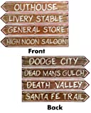 Western Signs Cutouts, 4ct