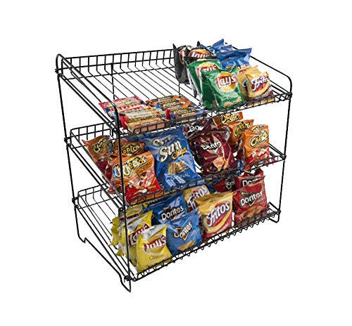 (FixtureDisplays Black Wire Rack 23.0