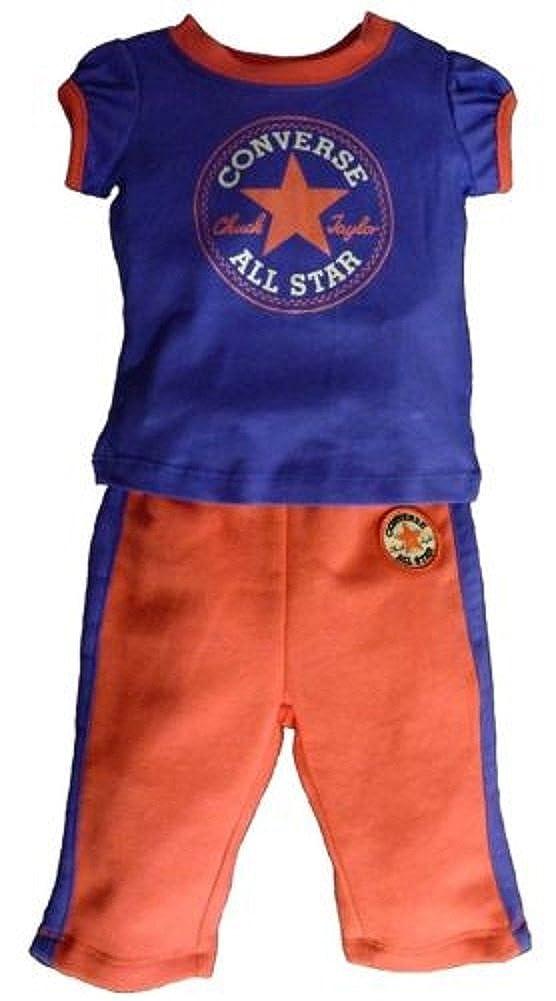 Converse Girls T-Shirt & Jog Pants - Set Carnival Pink Purple