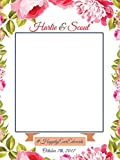 Custom Love Wedding Day Frame Flowers Photo Booth Prop - sizes 36x24, 48x36; Pesonalized Wedding Home Decorations, Handmade Party Supply Photo Booth Frame