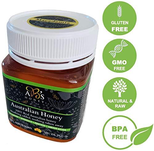 AB's Honey Australian Honey (Macadamia Blossom, 8.8 Ounce) 100% Natural, Non-GMO