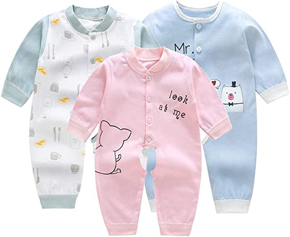 NOBRAND Baby Girls Clothes Infant Jumpsuit Newborn Pajama Long Sleeve 3 6 9 12 Months Toddler Child Romper