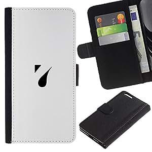 KLONGSHOP // Tirón de la caja Cartera de cuero con ranuras para tarjetas - una gota - Apple Iphone 6 PLUS 5.5 //
