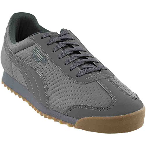 Canvas Steel Toe Sneaker Shoe (Puma Roma Triemboss Men Round Toe Canvas Gray Sneakers (11.5, Steel Gray))