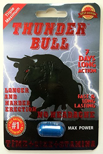Thunder Bull Triple Maximum Male Enhancement Sexual Pill! Long Lasting!-12 Pills! by Red Lips 2 (Penis Enhancement Pill)