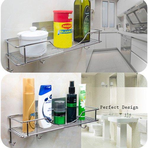 Bathroom Towel Shelf Kitchen Holder AISHN 304 Stainless