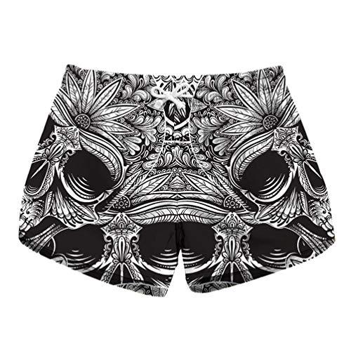 - Lotus Floral Gothic Fox Sexy Casual Bohemian Elastic High Waist Shorts Women