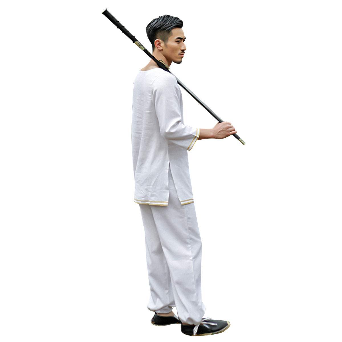 KSUA Hombres Tai Chi Traje Ropa China de Kung fu de algodón ...