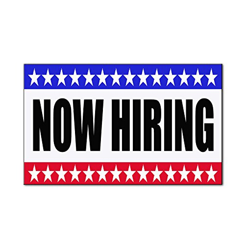 Now Hiring Business Car Door Magnets Magnetic Signs-QTY 2 - 12 x 24 Inches Car Magnetic Door Sign
