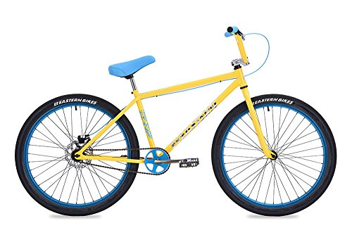 "Eastern Bikes Growler 26"" Cruiser Bike, Yellow, 14.5""/One Size"