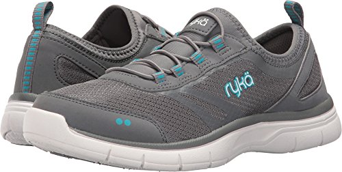 Ryka Women's Divya Grey/Blue/White 8 D - Wide