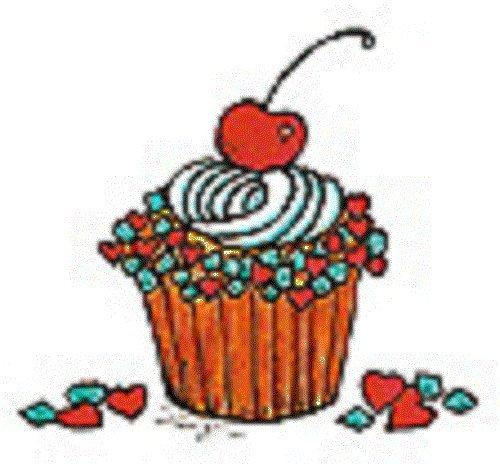 Center Enterprise E762'Cupcake with Cherry' Stamp