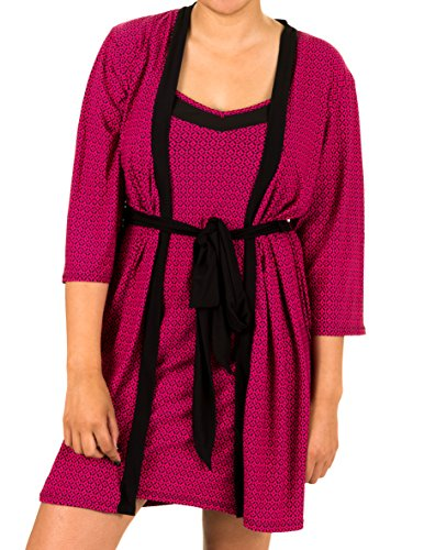 marilyn-monroe-womens-nighty-and-robe-large-pink-dia-geo