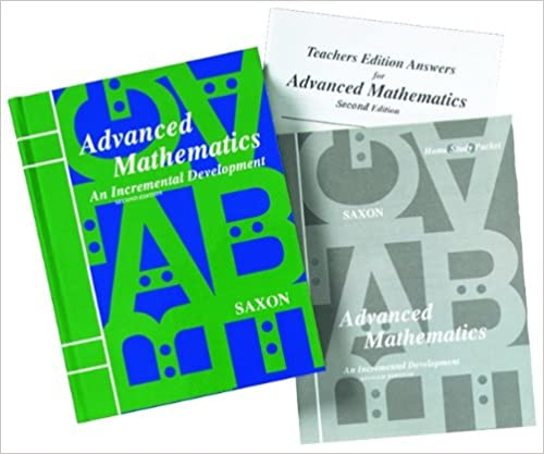 Amazon.com: Saxon Advanced Math: Homeschool Kit w/Solutions Manual ...