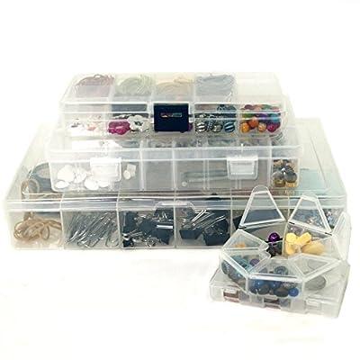 Craft Storage Organizer Bundle – 5 PCS Craft Bead School Supply Sewing Art Organizer Containers – Impact Resistant Storage Organization