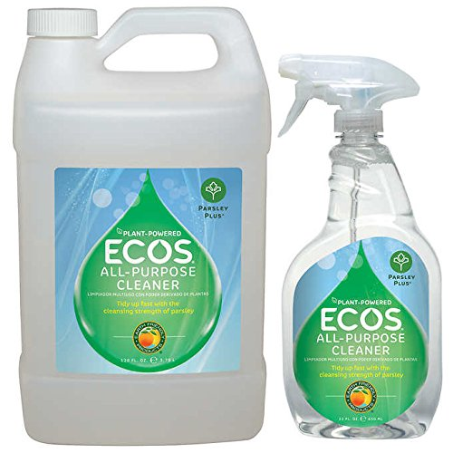 Parsley Spray Cleaner - ECOS Earth Friendly All-purpose Cleaner (Parsley Plus) 22 oz. + Refill - 128 oz.