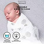 Swaddle-Blankets-100-Organic-Cotton-Soft-and-Hypoallergenic-2-Pack-Unisex