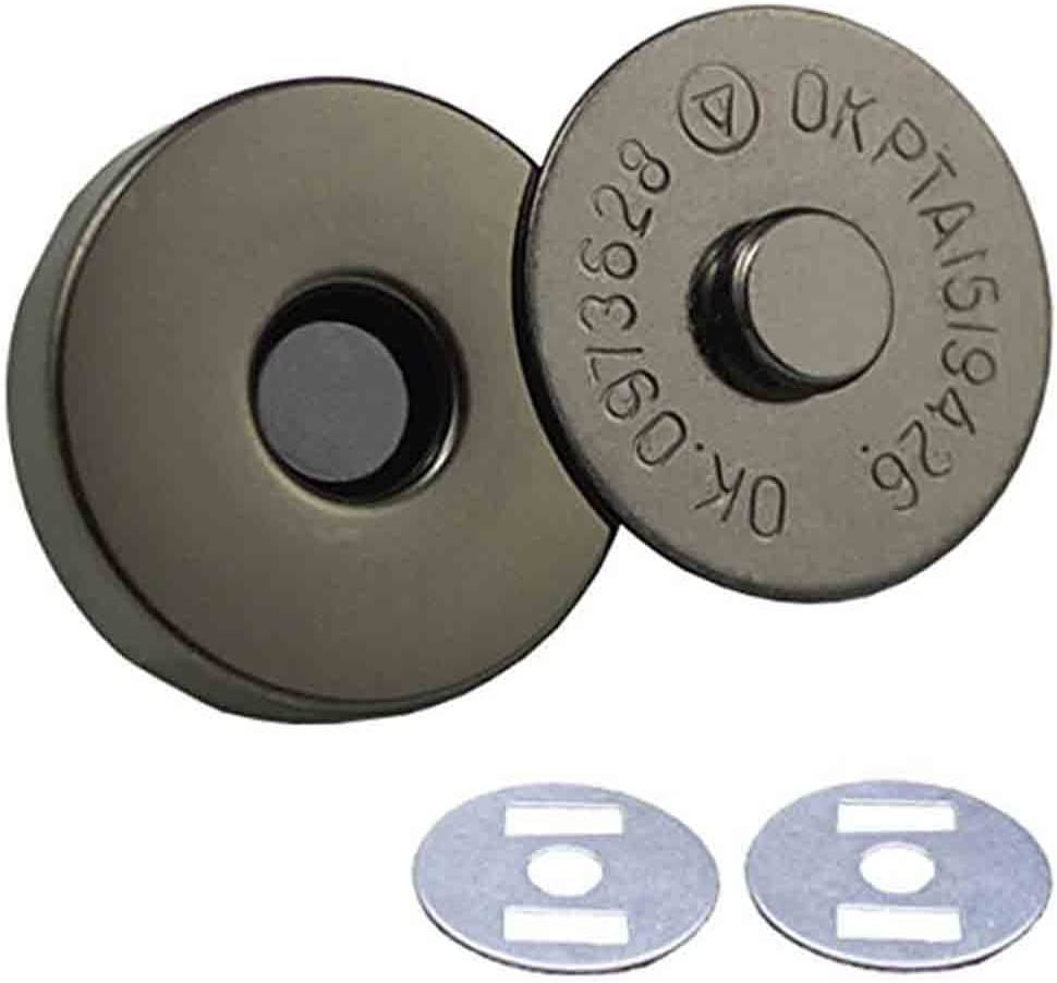 Wowlife 10 pcs 18mm//14mm Dia Magnetic Button Nickel Clasp Snaps Purses Bags Clothes Snaps