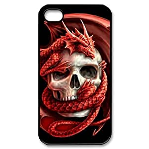 LZHCASE Diy Customized hard Case Red Dragon For Iphone 4/4s [Pattern-1]