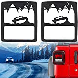 Sunluway Taillights Covers Tail Light Guard Rear Light Protector Cover Trim Matte Black Off-Road Style Accessories for 2018 Jeep Wrangler JL Sport/Sports
