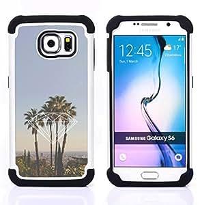 For Samsung Galaxy S6 G9200 - diamond Miami California la palm trees Dual Layer caso de Shell HUELGA Impacto pata de cabra con im????genes gr????ficas Steam - Funny Shop -