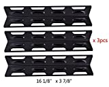 BBQ Mart 92071(3-pack) Select Gas Grill Porcelain Steel Heat Plate Replacement for Kenmore, Master Forge Model Grills and Others