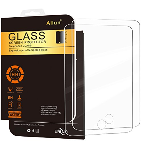 Ailun Screen Protector for iPad Mini 1/2/3 [2Pack] Tempered Glass,Compatible Apple iPad Mini 1/2/3,9H Hardness,2.5D Edge,Ultra Clear,Anti-Scratch,Case Friendly-Siania Retail Package