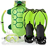 HEAD Mares Sea Pals Character Kids Mask Fin Snorkel Set, Lime, Large/1-4