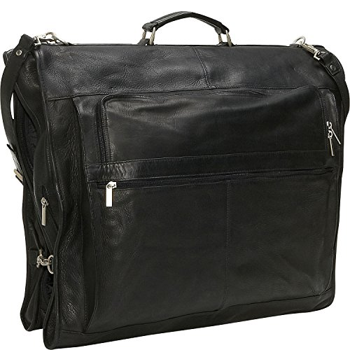 David King Leather 42'' Deluxe Garment Bag in Black by David King & Co