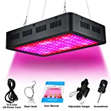 1000W LED Grow Light Double Chip Full Spectrum for Greenhouse Hydroponics and Indoor Plants Veg and Flowering (Black)