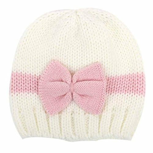 Gbell Baby Girl Boy Knitting Hats 0-12 Months Winter, Newborn Infant Soft Wool Crochet Hat Cap
