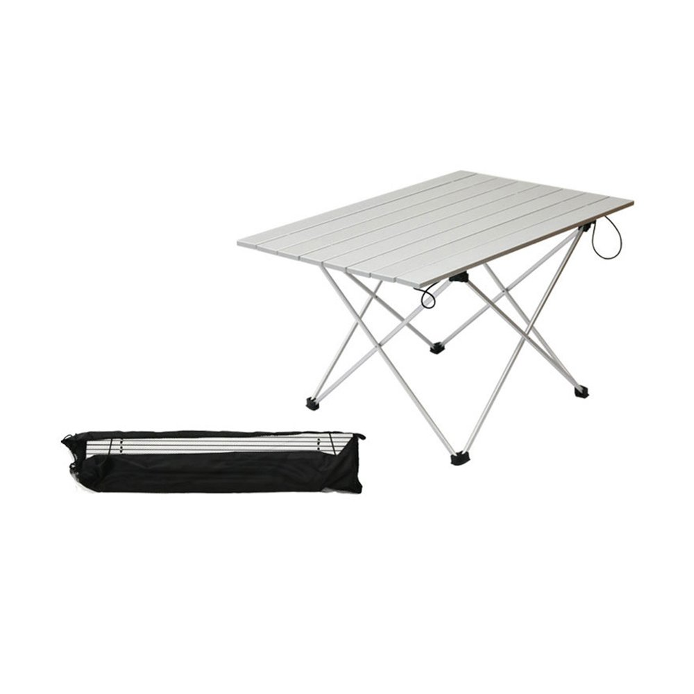 lbzeアルミポータブル折りたたみ式テーブルコンパクトRoll Up Withバッグアウトドアキャンプピクニックデスク B0749K943T   Small