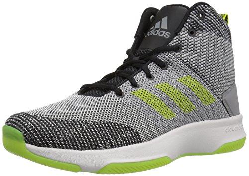 adidas Neo Men's CF Executor Mid Basketball-Shoes, Grey Five/Semi Solar Yellow/Grey Two, 10 Medium US
