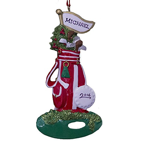Rudolph and Me Personalized Golfer Playing Golf Christmas Ornament -