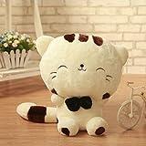 NO:1 Schönes Lächeln Katze Plüschtier Puppe Kuscheltier Wohnkultur Große Geschenk, Weiß