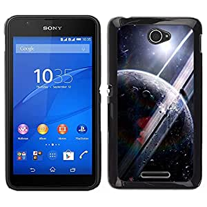 Las maravillas planetarias - Metal de aluminio y de plástico duro Caja del teléfono - Negro - Sony Xperia E4