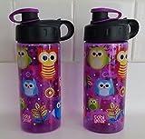 Cool Gear 16oz Water Bottle Purple with Owls