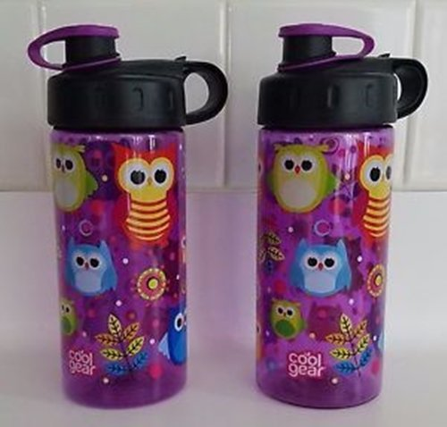 Cool Gear 16oz Water Bottle Purple with Owls by Cool Gear