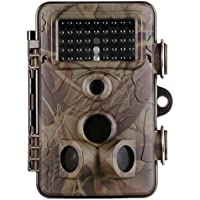Professional Trail Game Camera Wildlife Hunting Camera 2.4 LCD 42pcs No Glow IR LEDs and 12MP 1080P HD Infrared Night Vision IP66 Waterproof,120°Angle,0.2s Trigger Time with Time Lapse
