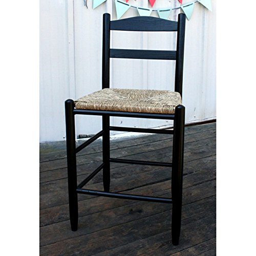 Dixie Seating 24 in. Shaker Style Ladder Back Counter Stool